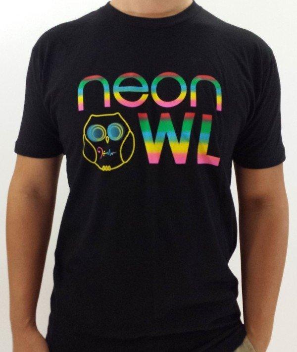 Neon Owl Men Crew T Shirt
