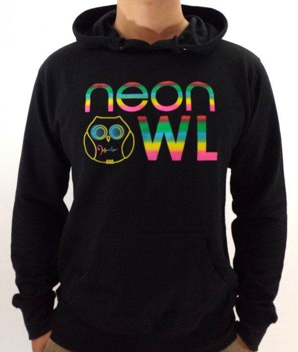 Neon Owl Pullover Hoodie