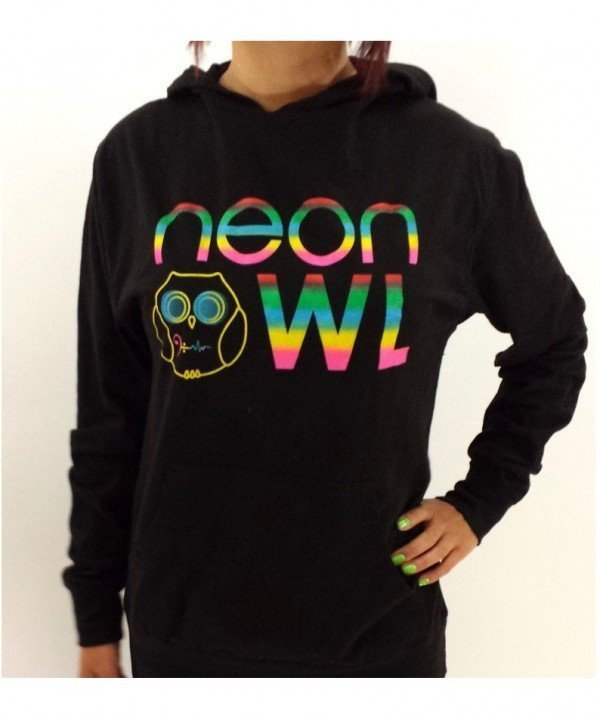 Neon Owl Unisex Pullover Hoodie
