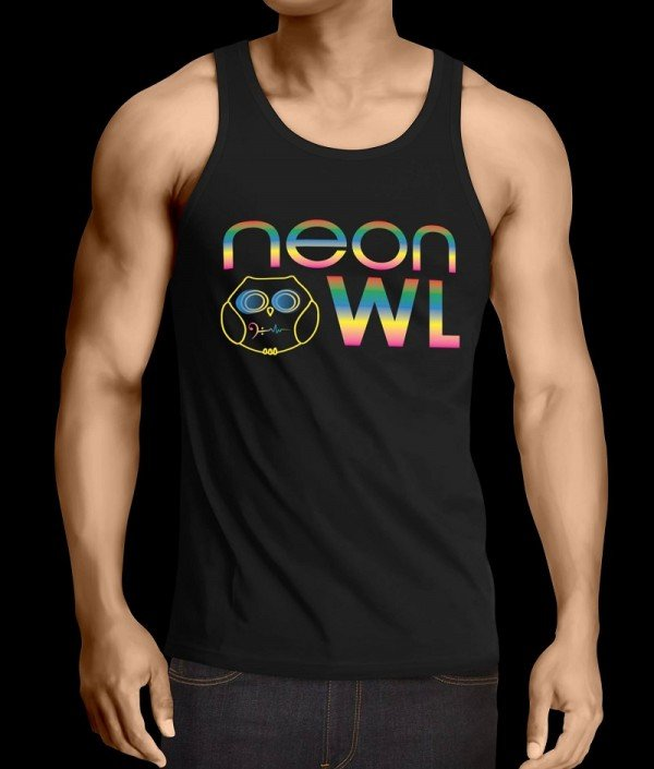 Neon Owl Men Tank Top