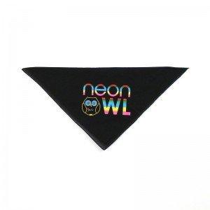 neon owl logo bandana