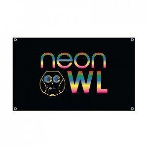 Neon Owl Flag