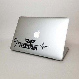 My Heart Beats to Feenixpawl Vinyl Decal Sticker