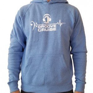 Groove Cruise x Neon Owl Blue Unisex Pullover Hoodie